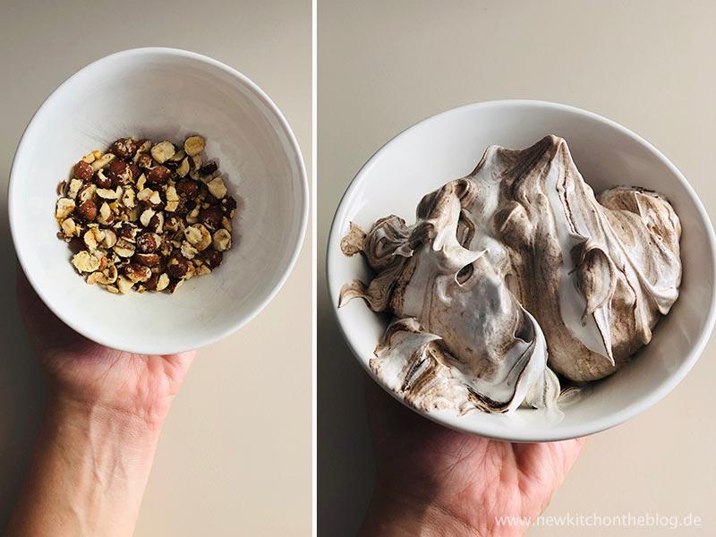 Karamellisierte Haselnüsse für Meringues