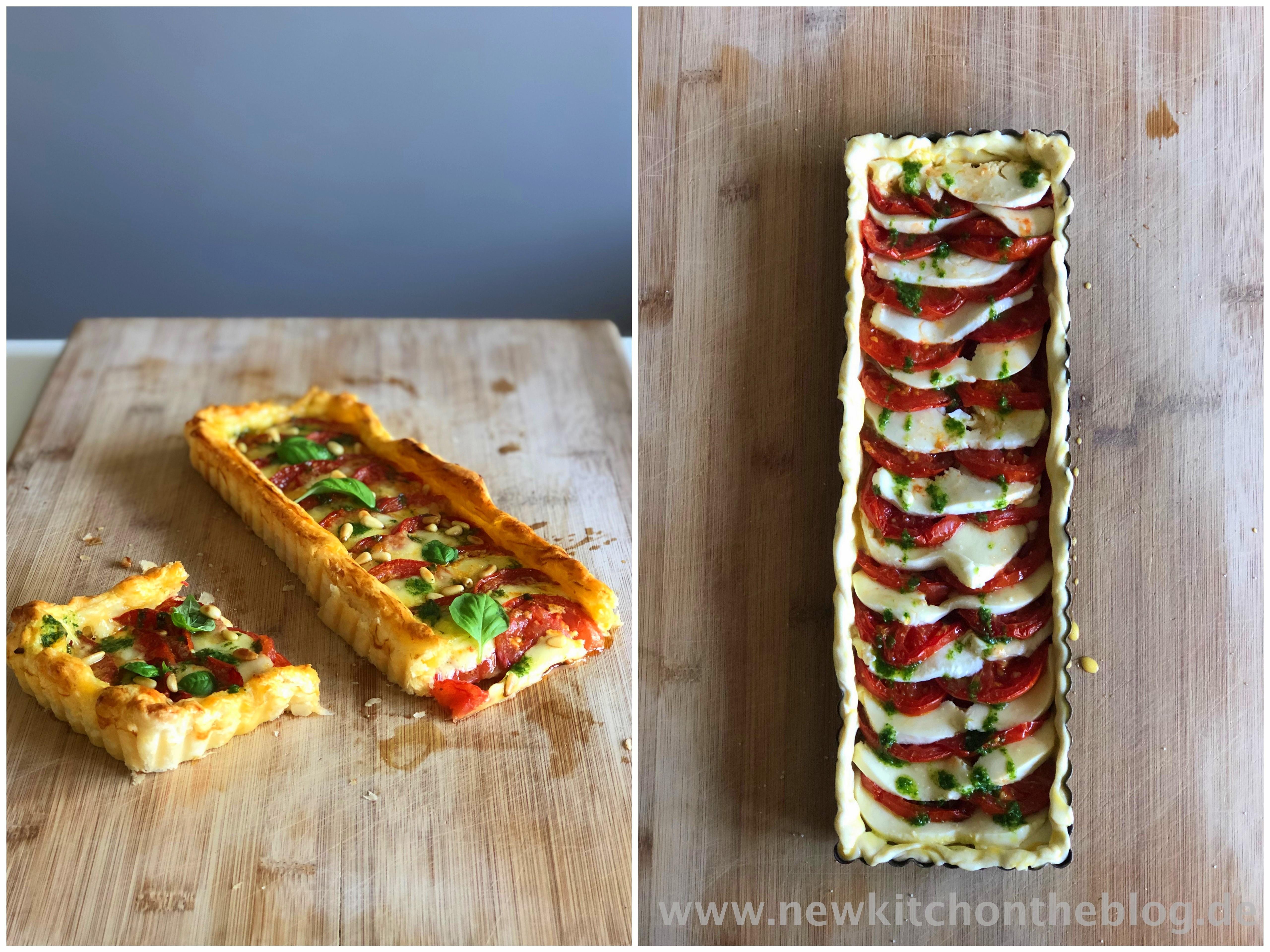 Caprese-Tarte mit Tomaten und Mozzarella