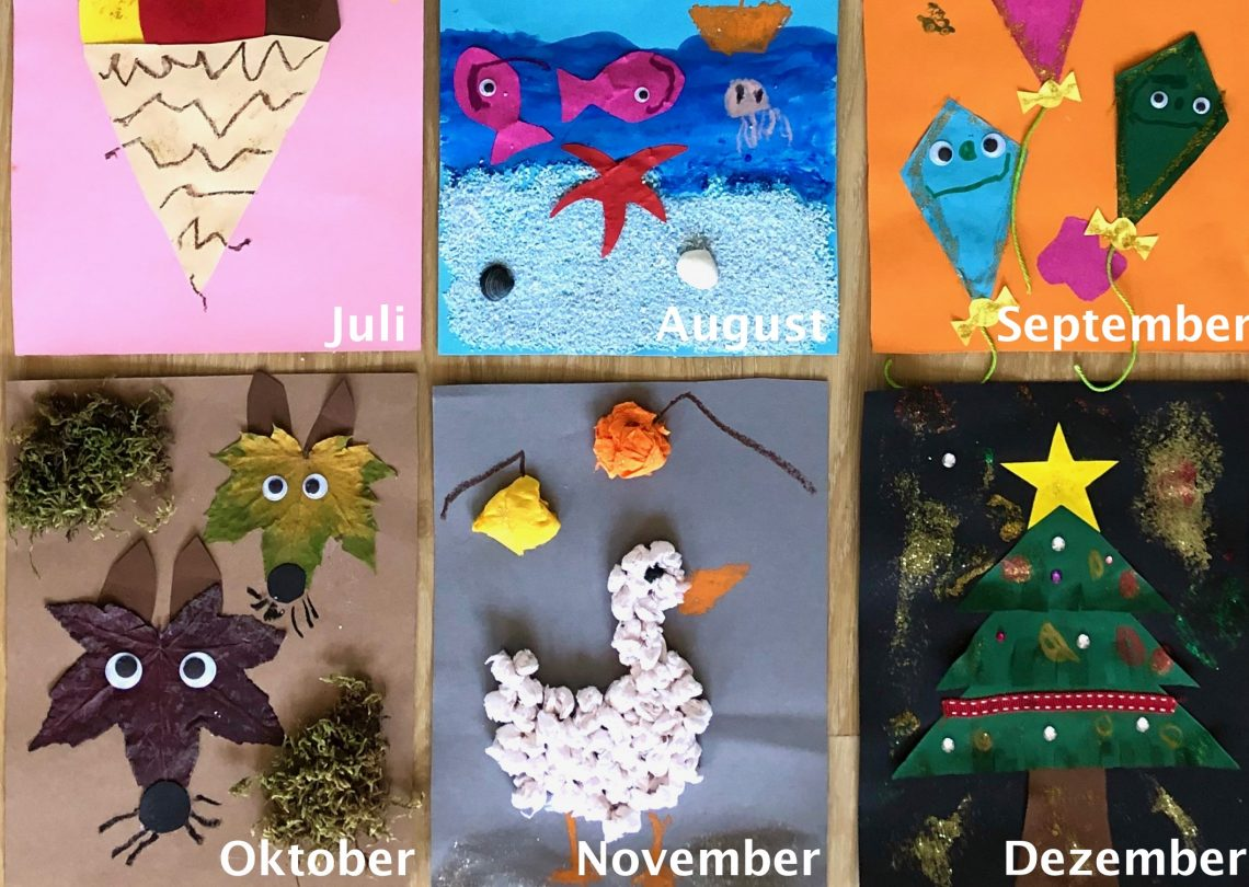 DIY-Kalender basteln mit Kindern: Ideen für 12 Kalendermonate